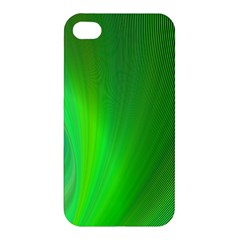Green Background Abstract Color Apple Iphone 4/4s Premium Hardshell Case