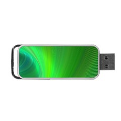 Green Background Abstract Color Portable Usb Flash (one Side) by Nexatart