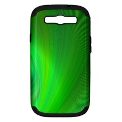 Green Background Abstract Color Samsung Galaxy S Iii Hardshell Case (pc+silicone)