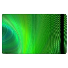 Green Background Abstract Color Apple Ipad 2 Flip Case by Nexatart