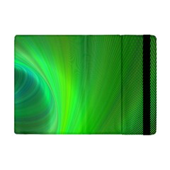 Green Background Abstract Color Apple Ipad Mini Flip Case by Nexatart