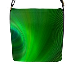 Green Background Abstract Color Flap Messenger Bag (l)