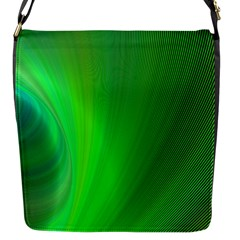 Green Background Abstract Color Flap Messenger Bag (s) by Nexatart