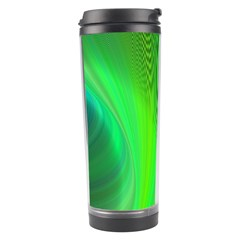 Green Background Abstract Color Travel Tumbler by Nexatart
