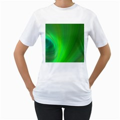 Green Background Abstract Color Women s T Shirt (white)