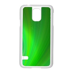 Green Background Abstract Color Samsung Galaxy S5 Case (white) by Nexatart
