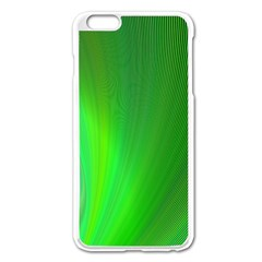Green Background Abstract Color Apple Iphone 6 Plus/6s Plus Enamel White Case