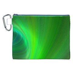 Green Background Abstract Color Canvas Cosmetic Bag (xxl) by Nexatart