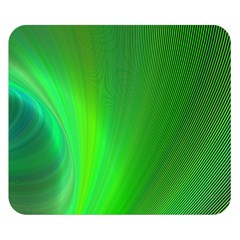 Green Background Abstract Color Double Sided Flano Blanket (small)