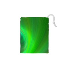 Green Background Abstract Color Drawstring Pouches (xs)