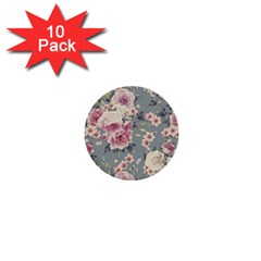 Pink Flower Seamless Design Floral 1  Mini Buttons (10 Pack)