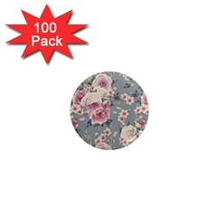 Pink Flower Seamless Design Floral 1  Mini Magnets (100 Pack)  by Nexatart