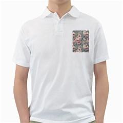 Pink Flower Seamless Design Floral Golf Shirts