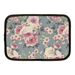 Pink Flower Seamless Design Floral Netbook Case (medium)