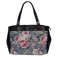 Pink Flower Seamless Design Floral Office Handbags