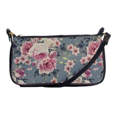 Pink Flower Seamless Design Floral Shoulder Clutch Bags