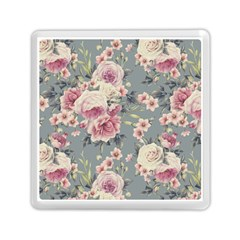 Pink Flower Seamless Design Floral Memory Card Reader (square)  by Nexatart
