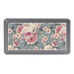 Pink Flower Seamless Design Floral Memory Card Reader (mini)