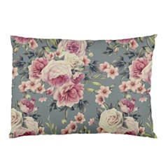 Pink Flower Seamless Design Floral Pillow Case (two Sides)