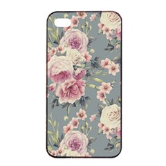 Pink Flower Seamless Design Floral Apple Iphone 4/4s Seamless Case (black)