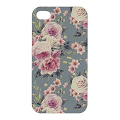 Pink Flower Seamless Design Floral Apple Iphone 4/4s Premium Hardshell Case by Nexatart