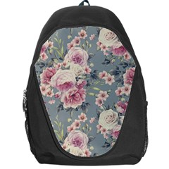 Pink Flower Seamless Design Floral Backpack Bag by Nexatart