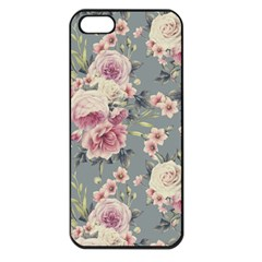 Pink Flower Seamless Design Floral Apple Iphone 5 Seamless Case (black)
