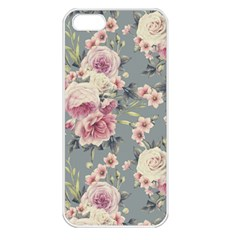 Pink Flower Seamless Design Floral Apple Iphone 5 Seamless Case (white) by Nexatart
