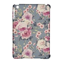Pink Flower Seamless Design Floral Apple Ipad Mini Hardshell Case (compatible With Smart Cover)