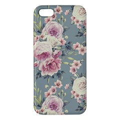 Pink Flower Seamless Design Floral Apple Iphone 5 Premium Hardshell Case