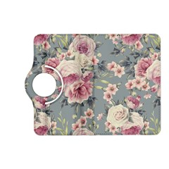 Pink Flower Seamless Design Floral Kindle Fire Hd (2013) Flip 360 Case by Nexatart
