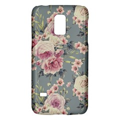 Pink Flower Seamless Design Floral Galaxy S5 Mini by Nexatart
