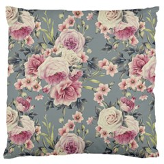 Pink Flower Seamless Design Floral Standard Flano Cushion Case (two Sides) by Nexatart