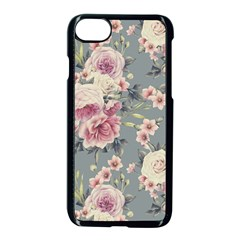 Pink Flower Seamless Design Floral Apple Iphone 7 Seamless Case (black)