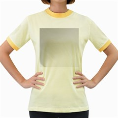 White Background Abstract Light Women s Fitted Ringer T Shirts