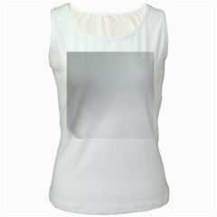 White Background Abstract Light Women s White Tank Top