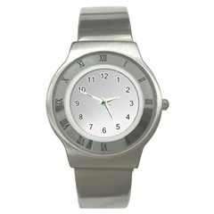 White Background Abstract Light Stainless Steel Watch by Nexatart