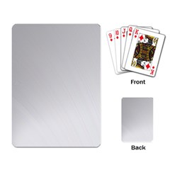 White Background Abstract Light Playing Card