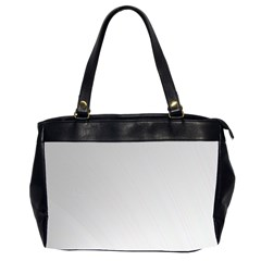 White Background Abstract Light Office Handbags (2 Sides)