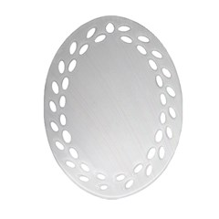 White Background Abstract Light Ornament (oval Filigree)