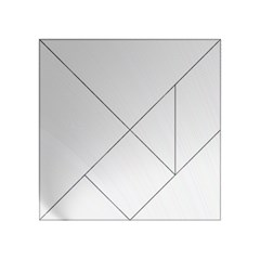White Background Abstract Light Acrylic Tangram Puzzle (4  X 4 )
