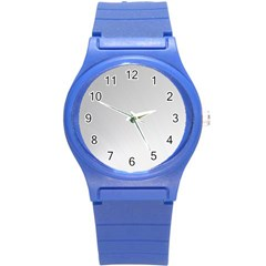 White Background Abstract Light Round Plastic Sport Watch (s)