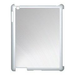 White Background Abstract Light Apple Ipad 3/4 Case (white)