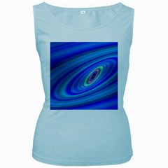 Oval Ellipse Fractal Galaxy Women s Baby Blue Tank Top