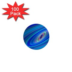 Oval Ellipse Fractal Galaxy 1  Mini Buttons (100 Pack)