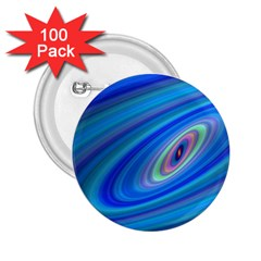 Oval Ellipse Fractal Galaxy 2 25  Buttons (100 Pack)