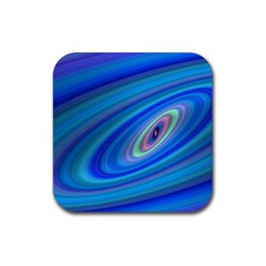 Oval Ellipse Fractal Galaxy Rubber Coaster (square)  by Nexatart