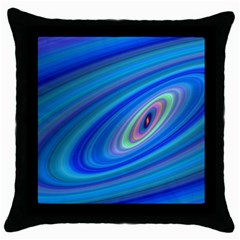 Oval Ellipse Fractal Galaxy Throw Pillow Case (black)
