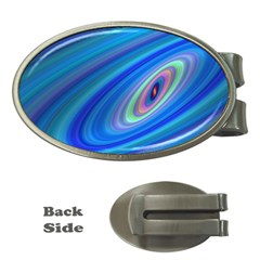 Oval Ellipse Fractal Galaxy Money Clips (oval)