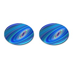 Oval Ellipse Fractal Galaxy Cufflinks (oval)